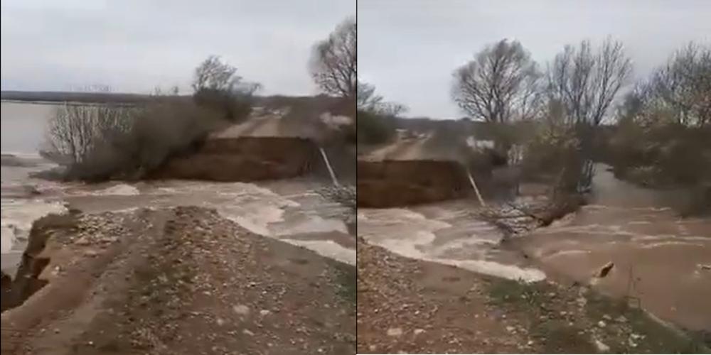 """ΒΙΝΤΕΟ: """"Έσπασαν"""" αναχώματα στον Ερυθροπόταμο, πλημμύρισαν πολλά στρέμματα σε χωριά του Διδυμοτείχου"""