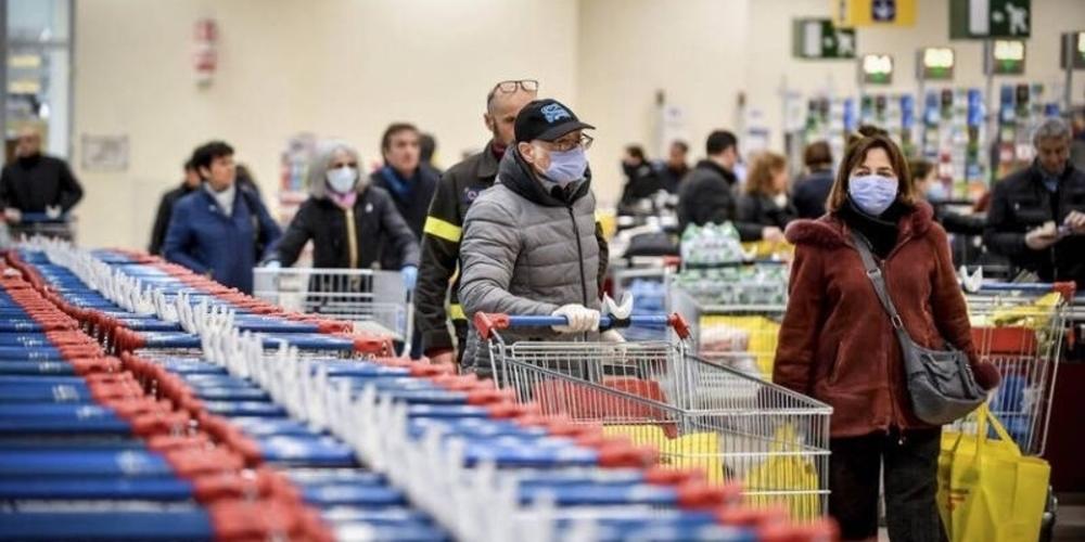 Κορωνοϊός: Αύξηση 30% στις πωλήσεις σούπερ μάρκετ – Τζίρος 1,3 δισ. ευρώ σε 7 εβδομάδες