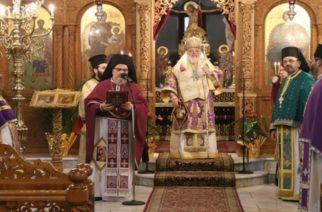 """Λειτουργία στην Ορεστιάδα «κεκλεισμένων των θυρών"""" του Μητροπολίτη κ.Δαμασκηνού και μήνυμα για την  Ε΄ Εβδομάδα των Νηστειών"""