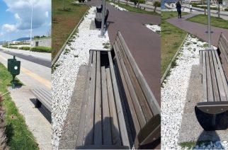 Αλεξανδρούπολη: Ξεραμένοι φοίνικες και σπασμένα παγκάκια στο πρόσφατο έργο της παραλιακής