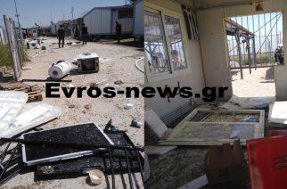 Αποκλειστικές εικόνες: Φωτιές και μεγάλες καταστροφές από ξεσηκωμό ανήλικων λαθρομεταναστών στο ΚΥΤ Φυλακίου Ορεστιάδας