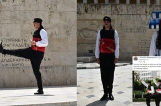 """Εβρίτης εύζωνας: """"Τίμησα τον τόπο μου, φορώντας την Θρακιώτικη φορεσιά στο Μνημείο Άγνωστου Στρατιώτη"""""""