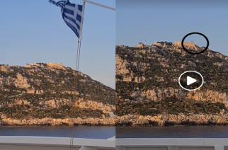 """ΒΙΝΤΕΟ: Τους φρουρούς της ακριτικής Ρω, τιμάει περνώντας καθημερινά το πλοίο """"ΣΤΑΥΡΟΣ"""" της SAOS Ferries"""