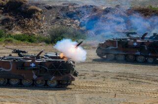 Ομοβροντία πυρών από άρματα της 12ης Μεραρχίας Αλεξανδρούπολης