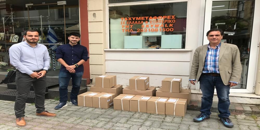 Δωρεά υλικών για αντιμετώπιση κορονοϊού στο Κέντρο Υγείας Σουφλίου απ' το Οικονομικό Επιμελητήριο Θράκης