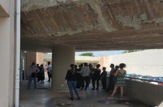Π.Γ.Νοσοκομείο Αλεξανδρούπολης: Συνωστισμός στην είσοδο και προβληματική κατάσταση κάτω απ΄την γέφυρα