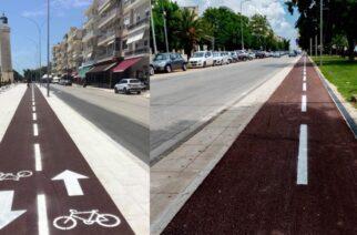 Ομόρφυνε με διαγράμμιση και ειδική σήμανση ο ποδηλατόδρομος της Αλεξανδρούπολης