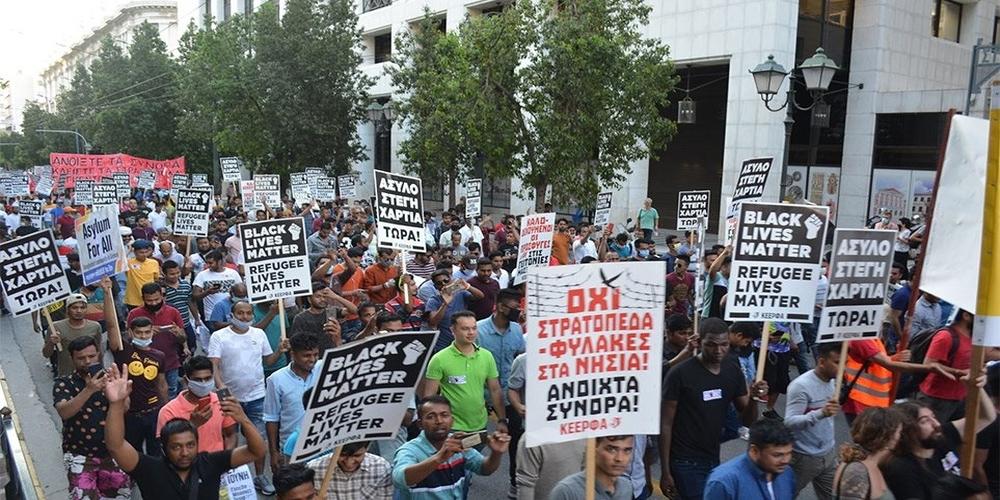 """Συλλαλητήριο μεταναστών στο Σύνταγμα με την στήριξη ΣΥΡΙΖΑ, για """"ανοιχτά σύνορα στον Έβρο"""""""