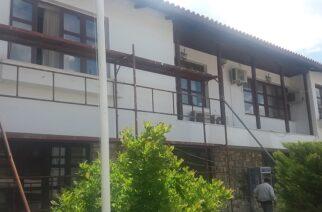 Εργασίες συντήρησης και αποκατάστασης της εξωτερικής όψης και στέγης του Δημαρχείου Σουφλίου