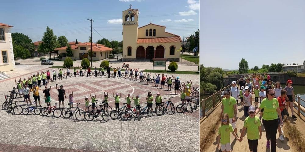 Ορεστιάδα: Ποδηλατοπορεία απ' τον Κυπρίνο στο φράγμα Θεραπειού, δίπλα στα ελληνοβουλγαρικά σύνορα (φωτό+ΒΙΝΤΕΟ)