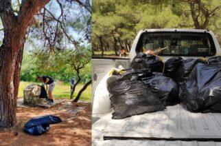 Διδυμότειχο: Η εθελοντική ομάδα Ελληνοχωρίου καθάρισε χθες το Άλσος της Τσίγγλας
