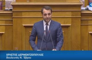 Δερμεντζόπουλος: Με πράξεις αυτή η Κυβέρνηση δείχνει το ενδιαφέρον της για τον Έβρο