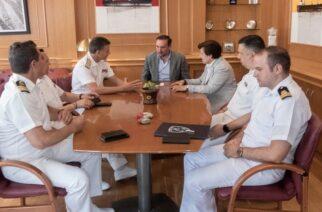 Συνάντηση του δημάρχου Αλεξανδρούπολης με την Γ.Γ.Αιγαίου καιτον Αρχηγό Λιμενικού Σώματος