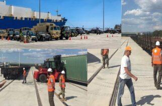 Αλεξανδρούπολη: Ξεκίνησε η φόρτωση του αμερικανικού στρατιωτικού υλικού σε τρένο στο λιμάνι