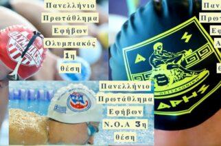 Μεγάλη επιτυχία του Ν.Ο.Αλεξανδρούπολης -Τρίτος στους Εφήβους στο Πανελλήνιο Πρωτάθλημα Κολύμβησης