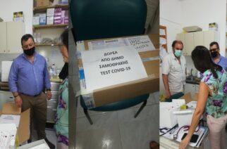 Σαμοθράκη: Ο δήμος δώρισε 100 τεστ ανίχνευσης κορονοϊού στο Κέντρο Υγείας του νησιού