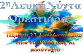 """Ορεστιάδα: Έρχεται την Πέμπτη 27 Αυγούστου η """"2η Λευκή Νύχτα"""", με 12 μουσικές σκηνές"""