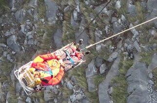 Σαμοθράκη: Με ελικόπτερο η διάσωση και μεταφορά στην Αλεξανδρούπολη, του νεαρού που τραυματίστηκε σε δύσβατο σημείο