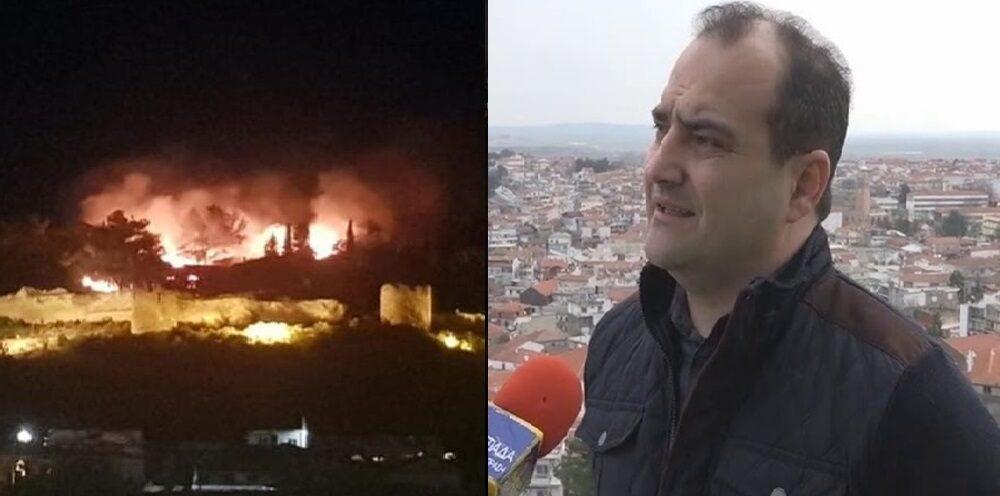 Χατζηγιάννογλου: Ευχαριστώ όσους βοήθησαν στην κατάσβεση της πυρκαγιάς στο Κάστρο Διδυμοτείχου
