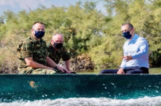 """Στο Δέλτα του Έβρου και σε στρατιωτικές μονάδες """"πρώτης γραμμής"""" ο ο υφυπουργός Αλκιβιάδης Στεφανής"""