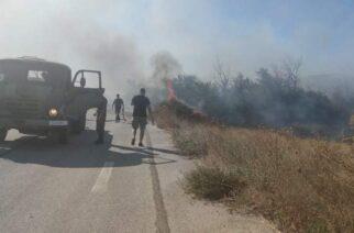 """Κι ο στρατός στη """"μάχη"""" κατάσβεσης της πυρκαγιάς στην περιοχή Τραϊανούπολης (φωτορεπορτάζ)"""