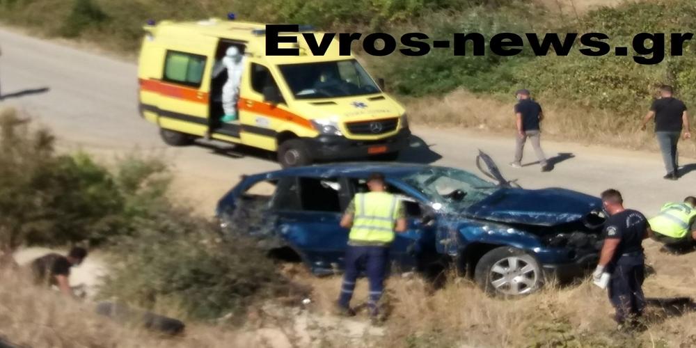 """Αλεξανδρούπολη: Επτά τραυματίες στο νοσοκομείο – Αυτοκίνητο """"έφυγε"""" απ' την Εγνατία οδό και… προσγειώθηκε σε παράδρομο"""