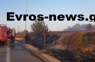Σουφλί: Δυο πυρκαγιές τώρα, στον κόμβο Φυλακτού του κάθετου άξονα και στην Λευκίμμη