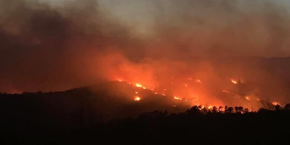 Αλεξανδρούπολη: Συνεχίζει να καίει η φωτιά μεταξύ Λουτρών και Νίψας – Δεύτερη πολύ δύσκολη νύχτα