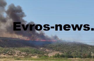"""Αλεξανδρούπολη: Ξεκίνησε ρίψεις το ελικόπτερο στην φωτιά του Αρδανίου – Έρχονται 2 """"Καναντέρ"""""""
