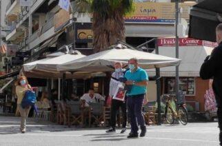 Τρίκαλα: Η πόλη που πολλοί προβάλλουν ως πρότυπο, με μάσκες παντού λόγω πολλών κρουσμάτων κορονοϊού
