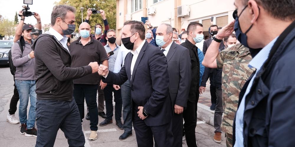 """Μητσοτάκης: """"Εβρίτες, αστυνομία, στρατός, κράτησαν το φρόνημα της πατρίδας πολύ υψηλό"""""""