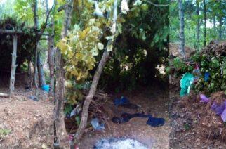 Οι αυτοσχέδιες καλύβες των λαθρομεταναστών στον ορεινό όγκο Σουφλίου, όπου ξεκουράζονται πριν συνεχίσουν