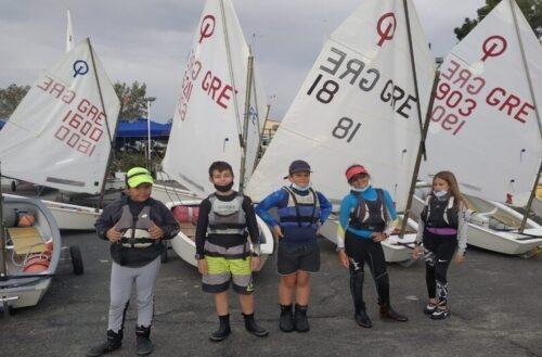 """Στον αγώνα """"Optimist & Laser 4.7 ΔΗΜΗΤΡΙΑ 2020"""" συμμετείχαν οι νεαροί αθλητές του ΝΟΑ"""