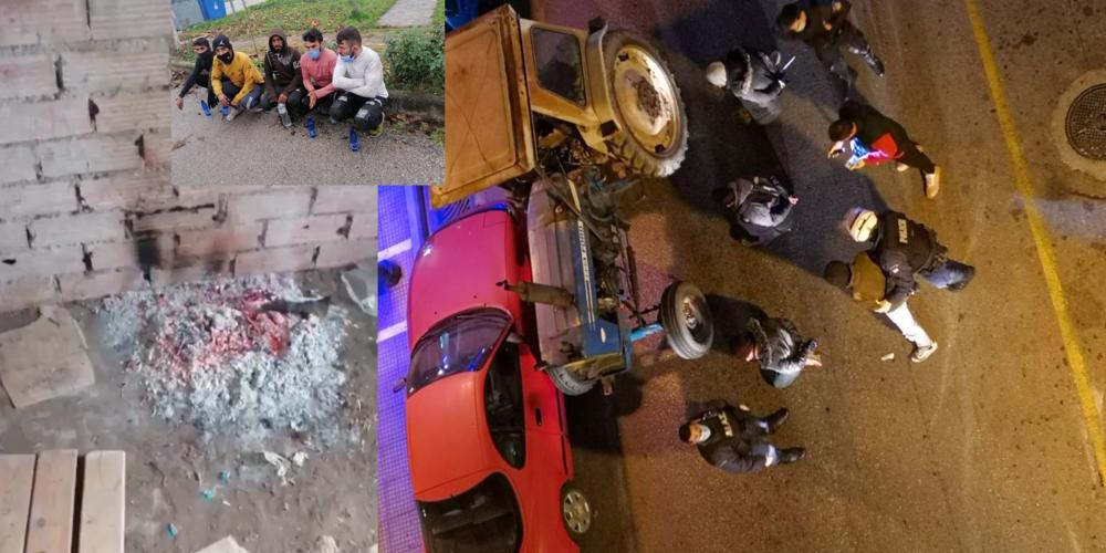 Λαθρομετανάστες: Έβαλαν φωτιά σε αποθήκη στο Ορμένιο – Άλλοι έφτασαν με… τρακτέρ στην Καβάλα!!! (ΒΙΝΤΕΟ)
