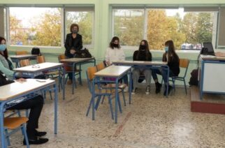 Παρουσίαση ηλεκτρονικού παιχνιδιού από μαθητική ομάδα του 3ου Γυμνασίου στον Δήμαρχο Γιάννη Ζαμπούκη