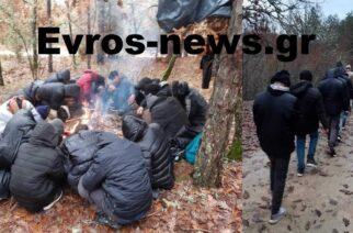 ΒΙΝΤΕΟ: Ούτε οι κακές καιρικές συνθήκες αποτρέπουν τους λαθρομετανάστες να κινούνται στα ορεινά Σουφλίου