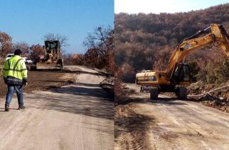 Σουφλί: Προχωρούν τα έργα αποκατάστασης-βελτίωσης, στο οδικό δίκτυο Ρούσσας-Γονικού