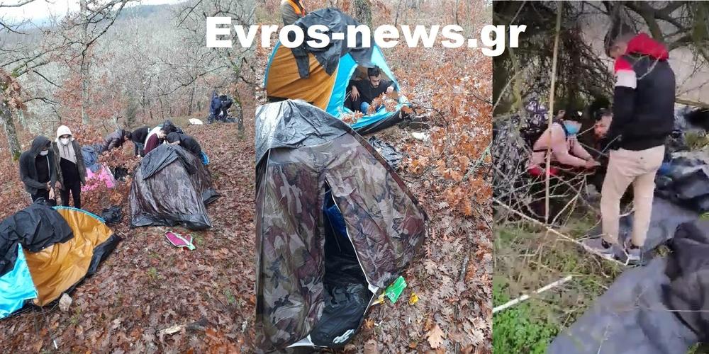 ΒΙΝΤΕΟ: Χαμός με πρόχειρους καταυλισμούς λαθρομεταναστών στα ορεινά Σουφλίου και την περιοχή Τριγώνου
