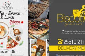 """Αλεξανδρούπολη: Oι αγαπημένες γεύσεις του Biscotto """"Coffee – brunch & lunch"""", έρχονται με Delivery σπίτι σας"""