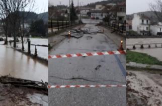 """Αλεξανδρούπολη: Έπεσε η σιδερένια γέφυρα στα Λουτρά – Έσπασε ανάχωμα στο """"Τσάι"""" Φερών προς Ιτέα (ΒΙΝΤΕΟ)"""
