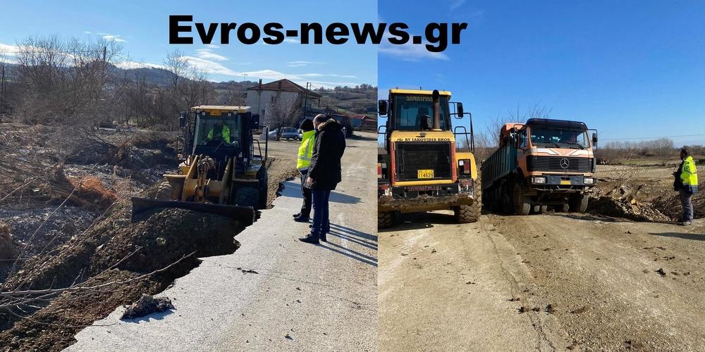 Διδυμότειχο: Ξεκίνησαν ήδη εργασίες αποκατάστασης της κυκλοφορίας στον κατεστραμμένο επαρχιακό δρόμο Μεταξάδων-Πολιάς (ΒΙΝΤΕΟ)