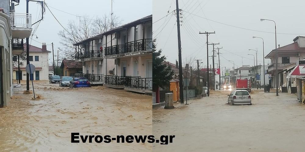 Σουφλί: Πλημμύρισαν σπίτια σε πόλη και χωριά – Έντονες βροχοπτώσεις απ' το πρωί
