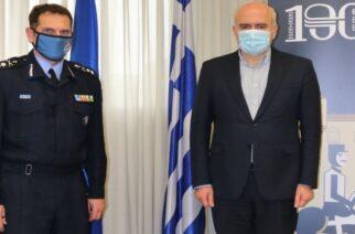 Επίσκεψη στον Περιφερειάρχη ΑΜΘ του νέου Συντονιστή Επιχειρήσεων Πυροσβεστικού Σώματος Βορείου Ελλάδος
