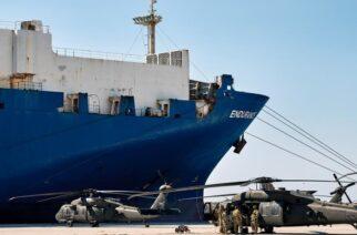 """Αλεξανδρούπολη: Φτάνει μεσημέρι το """"θηριώδες"""" ENDURANCE – Aρχίζουν οι πτήσεις αμερικανικών ελικοπτέρων που μεταφέρει"""