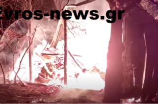 Σουφλί ΤΩΡΑ: Λαθρομετανάστες έβαλαν φωτιά σε μαντρί στο Μεγάλο Δέρειο (πολλά ΒΙΝΤΕΟ)