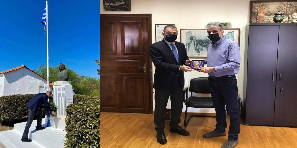 Την κυρά των Μαρασίων τίμησε σήμερα ο υφυπουργός Εθνικής Άμυνας Αλκιβιάδης Στεφανής