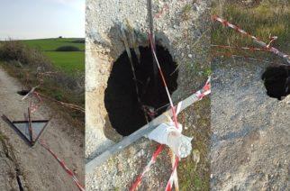 Ορεστιάδα: Άνοιξε και… κρατήρας στο δρόμο Πάλλης-Πενταλόφου, που είναι σε τραγική κατάσταση
