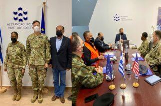 Επίσκεψη στο λιμάνι Αλεξανδρούπολης και συνεργασία της Αμερικανίδας Ταξιάρχου Wanda Williams