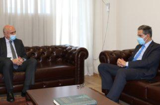 Συνάντηση του Περιφερειάρχη ΑΜΘ Χρήστου Μέτιου με τον Υφυπουργό Παιδείας Άγγελο Συρίγο