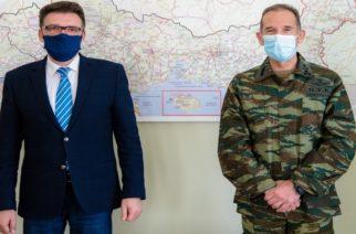 Εθιμοτυπική συνάντηση του Αντιπεριφερειάρχη Έβρου Δ.Πέτροβιτς, με τον Διοικητή 1ης στρατιάς
